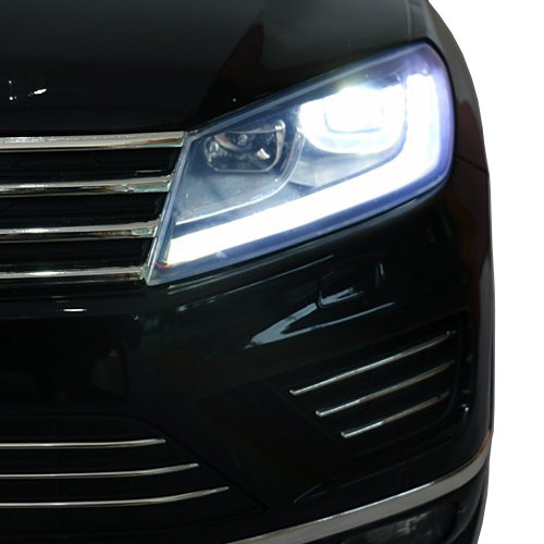 RC Auto kaufen Kinderauto Bild 3: crooza Touareg Touch-Display Bluetooth SoftStart Kinderauto Kinderfahrzeug Kinder Elektroauto SCHWARZ*