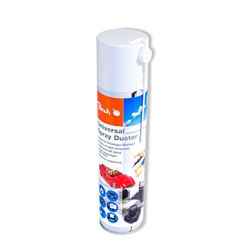 Peach Universal Druckluftreiniger PA100, 400 ml, 1 Stück | präzise, dank Sprühkopfverlängerung | ideal für die Reinigung im Haushalt und Büro | auch für empfindliche Geräte | H-FCKW / FCKW - frei |