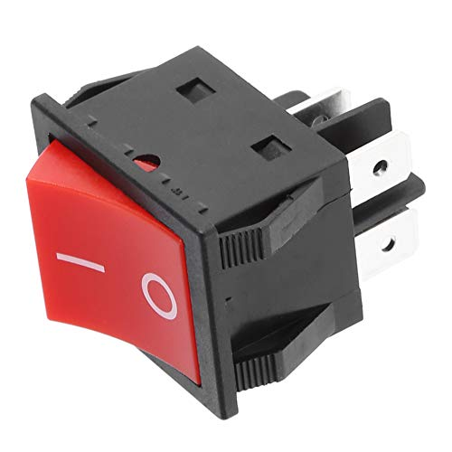 Annjom Interruptor Tipo Barco confiable, Interruptor basculante 30A de Larga Vida útil, Equipo eléctrico para Uso Industrial(5PCS)