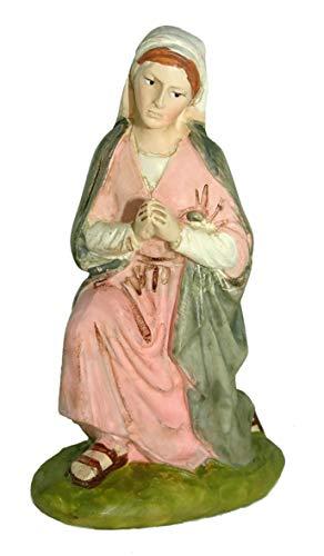 Ferrari & Arrighetti Nativity Scene Figurine: Virgin Mary - Martino Landi Collection - 10 cm