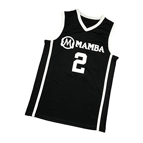 XMYM Bryant Daughter Gianna Basketball Jerseys Lakers, Summer Cool Breathable Youth Basketball Jersey, Stitched Letters and Numbers Sports Shirts-Black-L