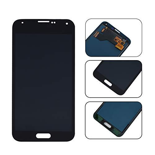 YHX-OU Für Samsung Galaxy S5 I9600 SM-G900 G900F LCD Display Touchscreen Ersatz Bildschirm mit Komplett Werkzeug (Nicht für G900H) (Schwarz)