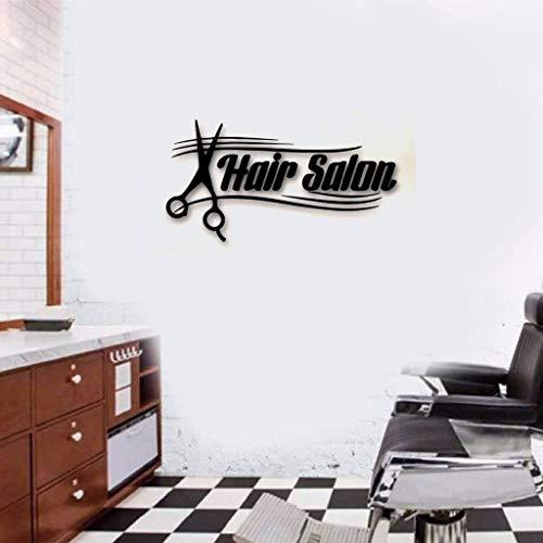 Haaraufkleber Aufkleber Hair Spa Salon Zeichen Schere Barbershop Style für Friseur