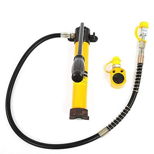 Hydraulischer Flaschenheber, tragbare geteilte 5-Tonnen-Hydraulikzylinder, hydraulische Handpumpe mit hydraulischer Handpumpe mit 700/20 kg/cm²