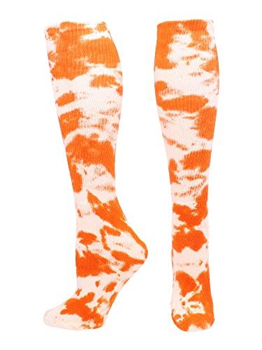 Tie Dye Multisport Tube Socks (Orange/White, Small)