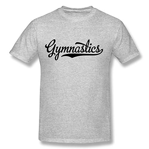 HOTHK Men's Short Sleeve Crew Neck Wordart Gymnastics Cotton T-Shirt