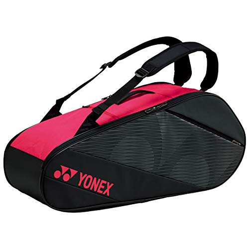 YONEX(ヨネックス) テニス バドミントン ラケットバッグ6 ラケット6本収納可能 ブラック/ローズピンク BAG2012R
