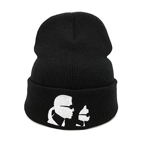 Beanie Mütze Herren Winter Herbst Unisex Cartoon Sonnenbrille Strickmützen Hüte Frauen Mann Outdoor Schnee LKW Fahrer Cold Caps Schwarz