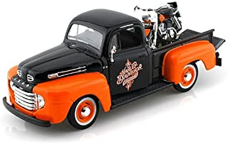 1948 Ford F1 Harley Davidson Truck 1/25 & 1958 FLH Duo Glide Black Over Orange