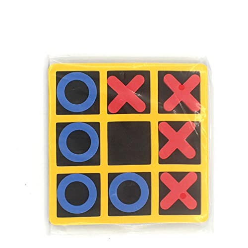 FOWZ Classic Tic Tac Toe Board Game Wooden for Kids and Family Games Living Room Decor
