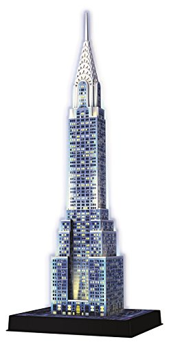 Ravensburger Chrysler Building Night Edition 3D Puzzle, 216pc [Children's Jigsaw Puzzles]