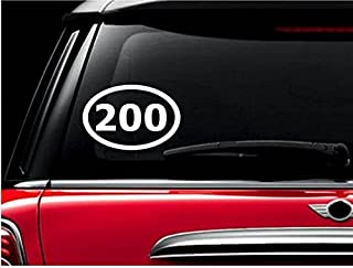 StickerLoaf Brand 200 MILE Double Century OVAL Decal Bicycle Cyclist Decals Sticker Cycling Cycle Bike Road Trail MTB Mountain Racing Race century metric Touring trek specialized giant fuji cannondale