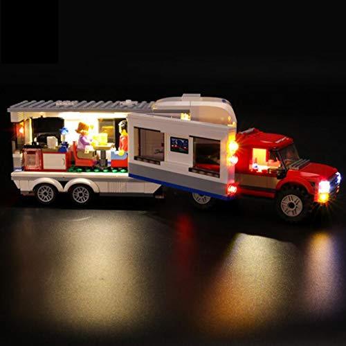 WFTD Light Set for (Padres-Child Camping Caravan) Bloques De Construcción, Kit De Iluminación LED Compatible con Lego 60182 (NO Incluye EL Modelo DE Lego)