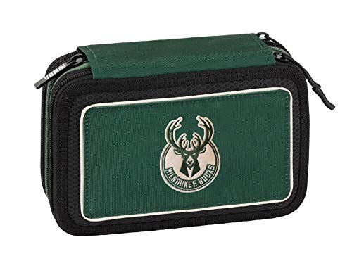 NBA Estuche Corredo 3Zip Milwaukee Verde