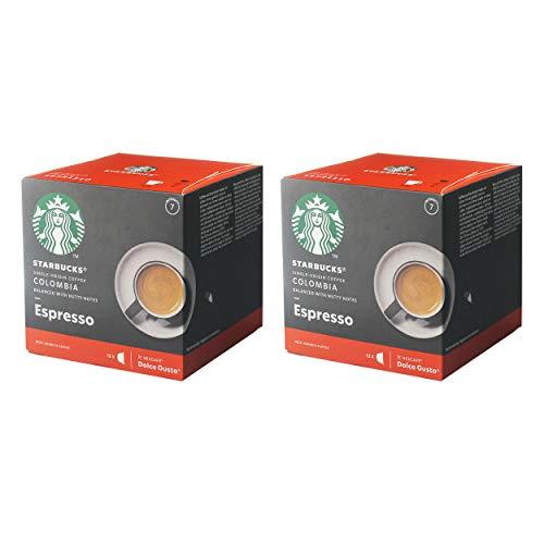 Nescafé Dolce Gusto Starbucks Colombia Espresso 2er Set, Kaffee, Röstkaffee, Kaffeekapseln, 2x12 Kapseln