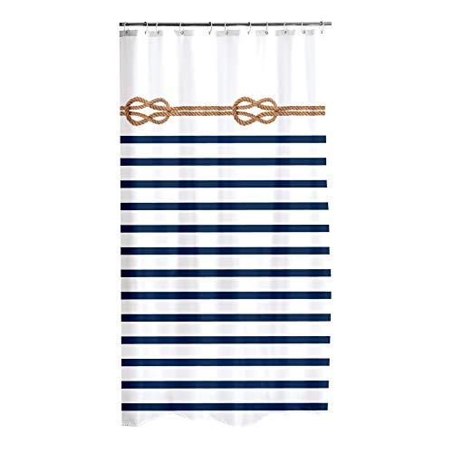 Douceur d'Intérieur Marina Duschvorhang, 100prozent Polyester, Mehrfarbig, 180 x 200 cm