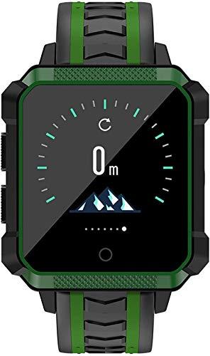 Reloj para niños Reloj de teléfono Smartwatch impermeable Información de reloj Push GPS Posicionamiento Monitoreo contador de pasos Función Recordatorio Múltiples Relojes-Verde