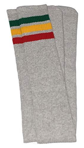 skatersocks 35 Inch Tube Socken Kniestrümpfe oldschool Sportsocken overknee grau
