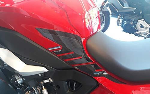 2 x 3D-Aufkleber für Motorrad-Tank, kompatibel mit BMW S1000XR ab 2020