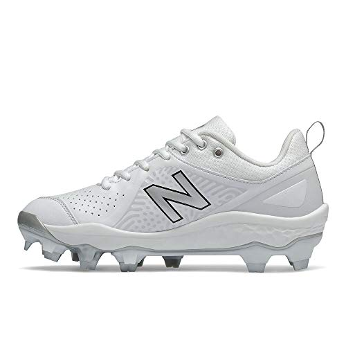 New Balance Women's Fresh Foam Velo V2 TPU Molded Softball Shoe, White/White, 8.5 Wide