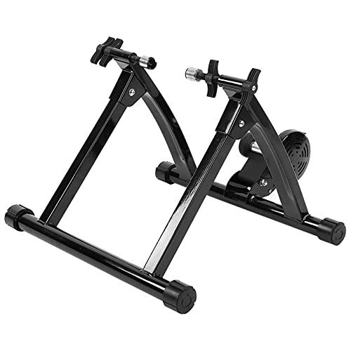 Ausla - Supporto per allenamento per bicicletta, pieghevole, magnetico, per interni e interni, riduzione del rumore, per esercizi fissi e allenamento, per biciclette da 66 a 73 cm, 54 x 47 x 39 cm