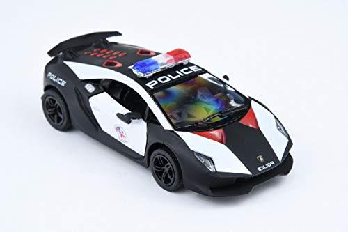 Kinsmart Lamborghini Sesto Elemento Police Scale Modell Spielzeugauto Zurückziehen Aktion 5