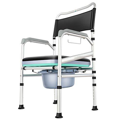 Mobiele Toiletstoelen Douchestoel Nachtstoel Toiletframe Hoogte Verstelbaar Toilet Rolstoel Met Armleuning En Rugleuning Voor Gehandicapte Oudere Zwangere Vrouw
