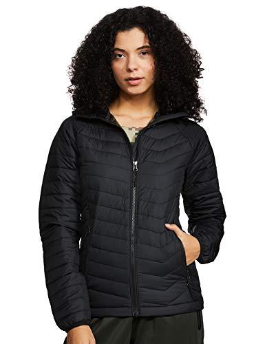 Columbia Powder Lite, Chaqueta con capucha, Mujer, Negro (Black) Talla XL