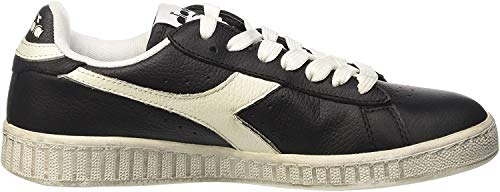 Diadora Game L Low Waxed, Sneakers Basses Homme, Noir (Nero/Bianco), 47 EU