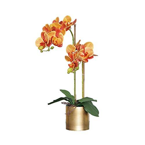 FOTGL Disposición de imitación de la orquídea de Mariposa Flores Artificiales con el Partido de Boda del florero Inicio Pieza Central Patio Decoración