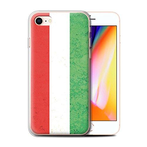 Telefoonhoesje voor Apple iPhone SE 2020 Vlaggen Hongarije/Hongaars Ontwerp Transparant Helder Ultra Zachte Flexi Siliconen Gel/TPU Bumper Cover