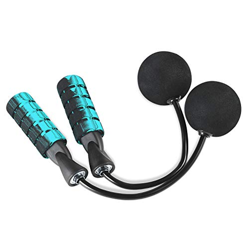 LEADWAYS Weighted Jump Ropes for Exercises, Tangle Free Cordless Jump Rope Best for Speed Jumping, Speed Training, Endurance Training and Fitness