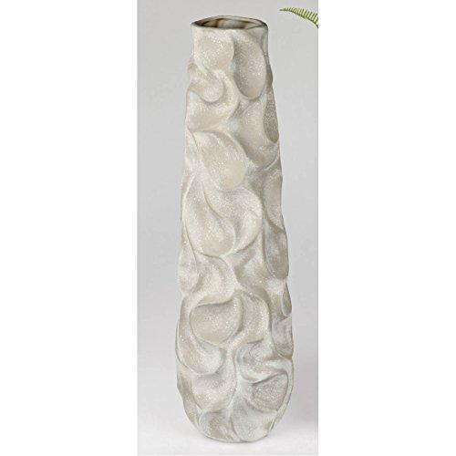 formano Deko Bodenvase Welle Landhaus H. 72cm D. 22cm grau Keramik