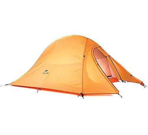 Naturehike Tienda de Campaña Mejorar Cloud Up 2 Persona Tienda de Trekking Ultraligero Impermeable (210T Naranja Estándar)
