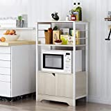 Estante para horno de microondas y cocina, mueble de almacenamiento para microondas, estante para microondas, estante para microondas (tamaño: 60 x 30 x 95 cm, color: 2)
