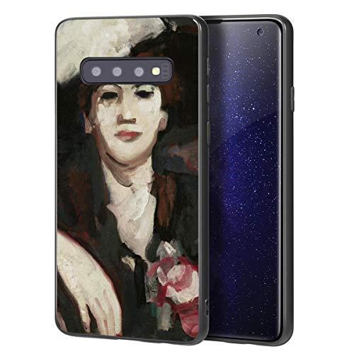 Berkin Arts John Duncan Fergusson für Samsung Galaxy S10 Plus Hülle/Kunst Handyhülle/Giclée UV Druck auf der Telefonabdeckung(Anne Estelle Reis Café Dharcourt)