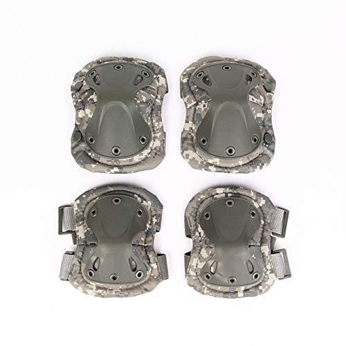 CONUBL Diamond Rodilla táctica Codo de una Familia de Cuatro Ventiladores Militares CS Aire Libre Que Monta Alpinismo de Gafas Deportivas tácticas Rodilla Diamante (Color : ACU Digital)