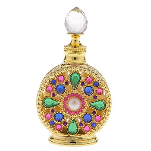 FLAMEER 10ml /12ml Bouteille de Parfum Vide en Verre Crystal Diffuseur de Liquide Vaporisateur de Parfum Or - 10ml