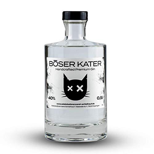 Böser Kater Premium Gin | Mit Holunderblüten & Cranberries | Handgemacht & Small Batch | 0,5l - 40% vol.