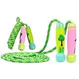 YoungRich 2 Pezzi Corda per Saltare Bambini Salto della Corda per Bambini Regolabile Corda per Saltare con Cartone Animato per Bambini con Manico in Legno per Bambini in Cotone 2.5m