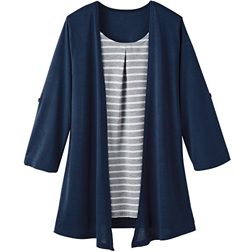 Cervin topper layered-stijl tuniek navy M