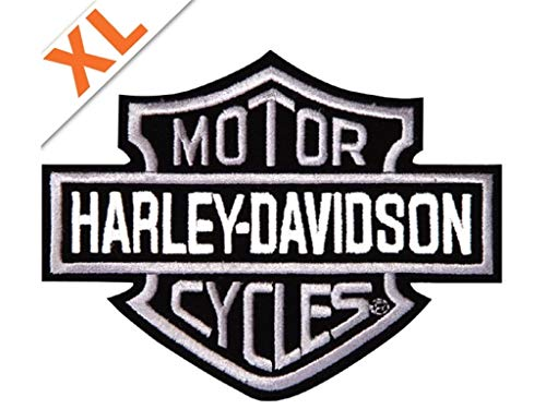 Harley-Davidson Aufnäher Bar & Shield Silber Groß