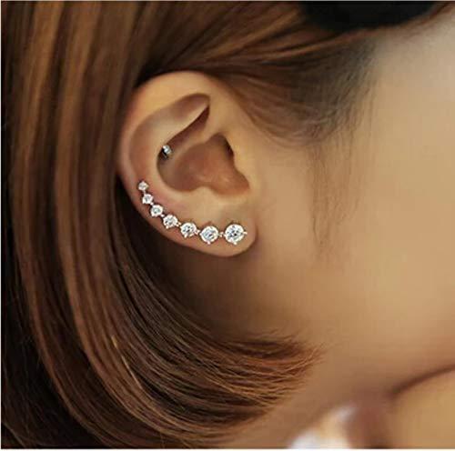 CXWK Fashion Super Shiny Zircon 925 Sterling Silver Stud Earring for Women Jewelry Gift