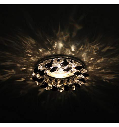 KOSILUM - Spot cristal encastrable design - Fantasia - Lumière Blanc Chaud Eclairage Salon Chambre Cuisine Couloir - 1 x 50W - - GU10 - IP20