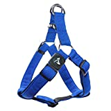 Kruz PET KZA201-02XL Step in Mesh Dog Harness – No Pull, Easy Fit Adjustable Pet Harness – Comfortable, Lightweight Padded Harness for Walking or Training Small, Medium, or Large Dogs, Blue, X-Large