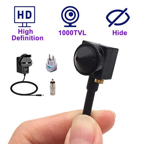CCTV HD Mini Spy Lochkamera Überwachungskamera 1000TVL Mini versteckte CCTV-Überwachungskamera Analoge kleine tragbare kabelgebundene Spionagekamera Lochkamera BNC-Videokamera