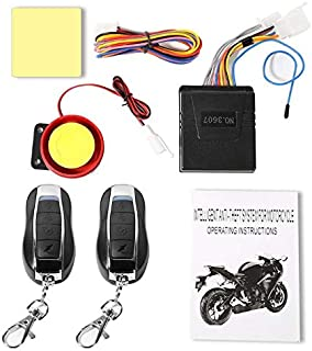 Transporter-Space - ABS Universal 12V Motorcycle Alarm System Anti-theft Remote Control Black Color75x65x22mm Motorcycle anti-theft device