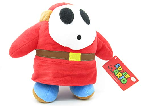 Plüsch Shy Guy Schüchterner Kerl rotes Kleid 27cm ORIGINAL Beamte SUPER Mario Bros Enemies Villains Schlecht