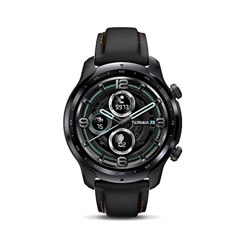 TicWatch Pro 3 GPS Smart Watch Men's Wear OS Watch Qualcomm Snapdragon Wear 4100 Platform Health Fitness Monitoring 3-45 Days Battery Life Built-in GPS NFC Heart Rate Sleep Tracking IP68 Waterproof