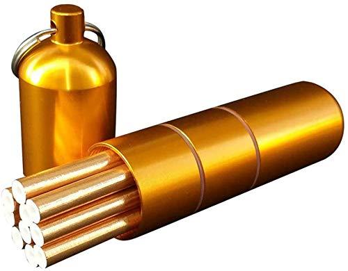 Estuche de Cigarrillos de aleación de Aluminio Portátil Impermeable al Aire Libre Desmontable Unisex Caja de Cigarrillos Larga y Delgada con Anillo de Sellado Sostiene 10 Cigarrillos Finos-Oro_Su